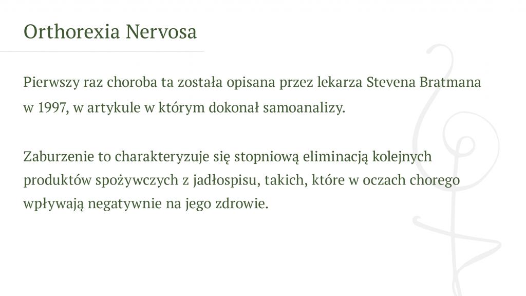 Orthorexia Nervosa - Psychodietetyk Gdańsk